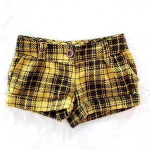 Forever 21 - Mustard Plaid Shorts